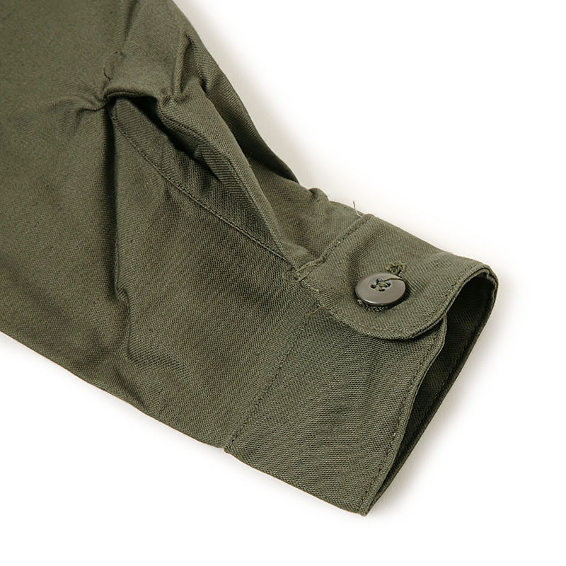 ミリタリー調 オリーブシャツ スタンダードシャツ 鉄板シャツ 定番シャツ